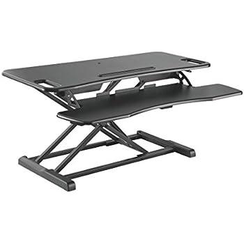 Kranich H/öhenverstellbarer Schreibtisch Elektrisch Steharbeitsplatz Monitorst/änder Sitz-Steh-Schreibtisch Sit-Stand Workstation