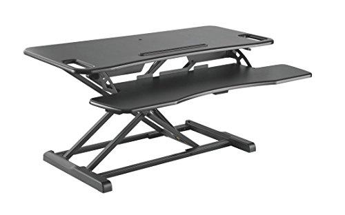 HALTERUNGSPROFI Steh-Sitz Schreibtisch Sit-Stand Workstation Höhenverstellbarer Aufsatz für den...