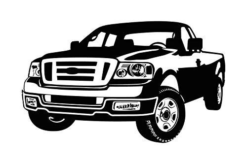 universumsum Wandtattoo Ford Pick Up dunkelgrau 90 x 54 cm bsm006-90-073 Wandaufkleber Wandsticker Wandtattoo Kinderzimmer selbstklebend