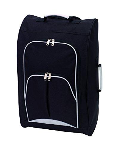 Handgepäck Bordcase schwarz mit 2 Skaterrollen und aus 600D Polyester Jetzt schon geeignet für die neue Flugbestimmung (Polyester-handgepäck)