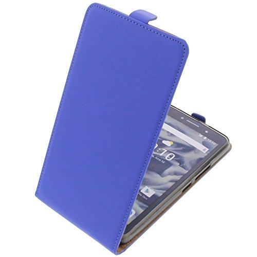 foto-kontor Tasche für Alcatel Pixi 4 6.0 3G Smartphone Flipstyle Schutz Hülle blau