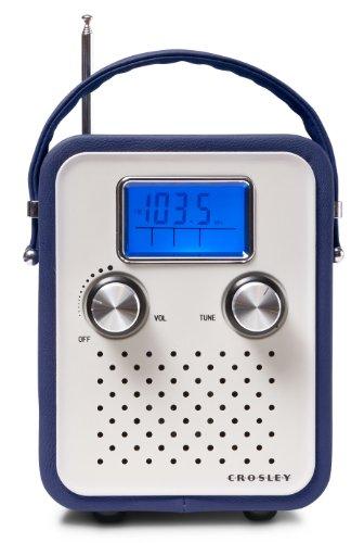 Preisvergleich Produktbild Crosley Songbird Vintage Retro Tragbares AM/FM Radio mit Tragriemen Kompatibel mit iPod und MP3 Player - UK Netzstecker - Blau