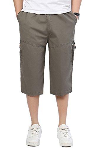 DQQ Herren Short Gr. L, Grün - Army (3 Pocket-basketball-shorts)