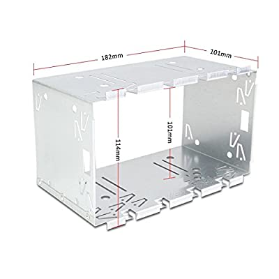 Kit d'installation Universel autoradio 2 DIN Double-Din Support encadrement Metallique 182x114 mm par Sound-way
