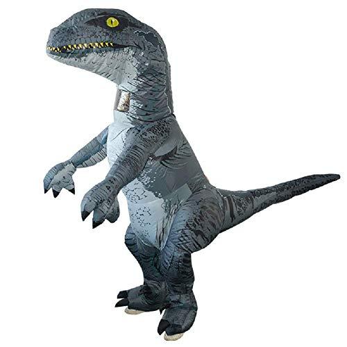 LOLANTA Erwachsene Kinderaufblasbares Dinosaurier Kostüm Halloween Fun Run Party Kostüme (Velociraptor, Erwachsene)