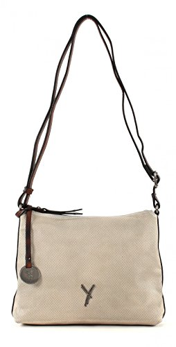SURI FREY Tasche - Kimmy - Top Zip Bag - Grey (Leder Top Umhängetasche Zip)