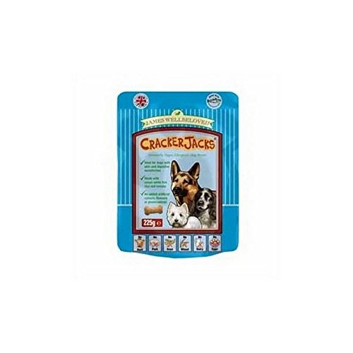 james-wellbeloved-crackerjacks-dog-treats-fish-m-225g-pack-of-6