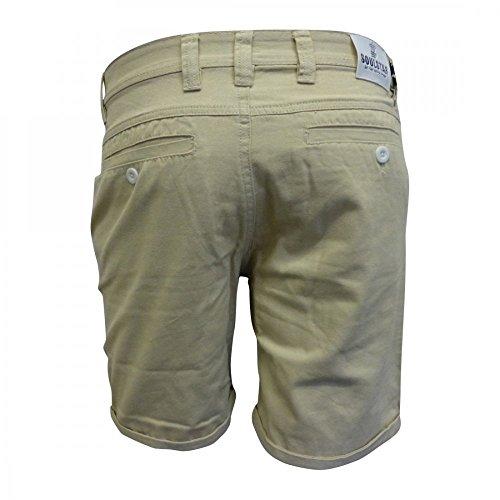 Soul Star - Melton - Shorts cargo casual in cotone - grigio Grigio pietra
