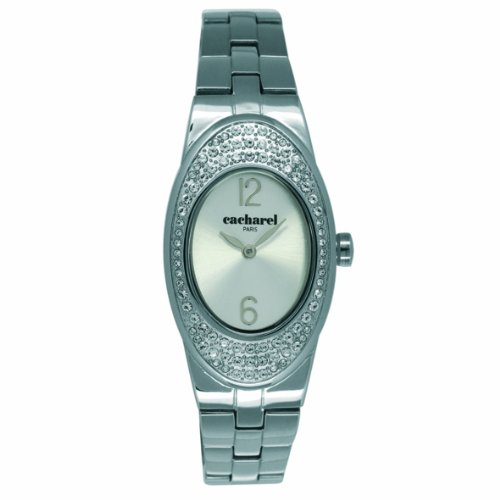 Cacharel CLD 008S/BM-Women's Watch Analogue Quartz Silver Dial Silver Steel Strap