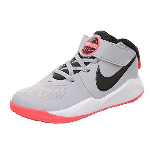 Nike Team Hustle D 9, Unisex-Kinder Basketballschuhe, Grau (Light Smoke Grey/Black-Laser Crimson) (Numeric_33)