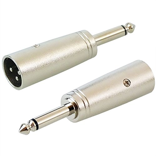 KEEPDRUM ADA008 XLR-Adapter XLR male zu 6,3mm Klinke-Stecker 2 STÜCK