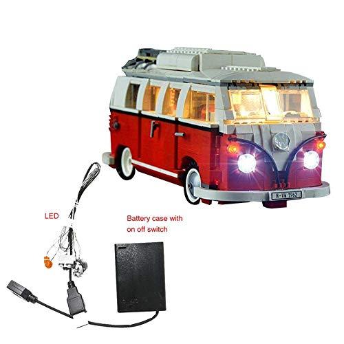 10 7 3CM LED Beleuchtung Auto Außen USB, Diy Beleuchtung, Einfach zu Installieren,USB LED Light Kit Bausatz NUR Für Lego 10220 Camper Van