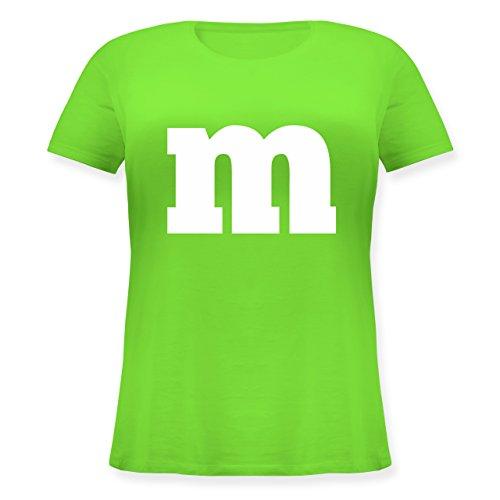 Karneval & Fasching - Gruppen-Kostüm m Aufdruck - S (44) - Hellgrün - JHK601 - Lockeres Damen-Shirt in großen Größen mit Rundhalsausschnitt