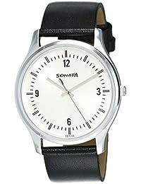 Sonata Essentials Analog Silver Dial Men's Watch NM77082SL01W / NL77082SL01W