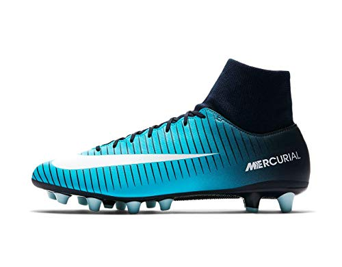 9d3b8552 Botas Fútbol Nike Mercurial Victory VI Dynamic Fit Azul AG-Pro Con Calcetin