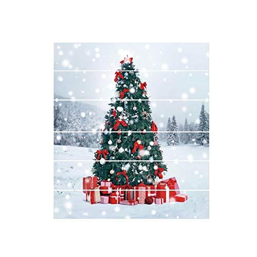 wangwtry 6pcs Wand-dekorativer Aufkleber-Weihnachtsbaum-Form-Wandaufkleber-Wandbilder imprägnieren die Fliesen-Abziehbild-Treppenhaus-Aufkleber, die einfach anzubringen sind Einfach schälen Sie
