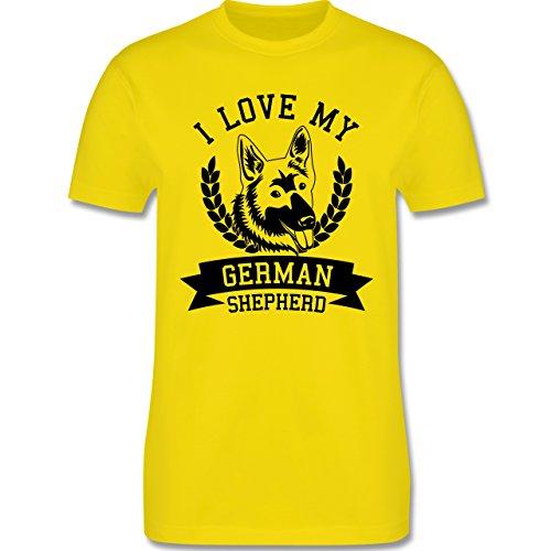Hunde - I love my German Shepherd - Herren Premium T-Shirt Lemon Gelb