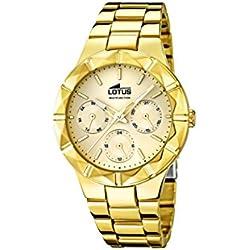 Lotus 15920/2 - Reloj de Pulsera Mujer, Acero Inoxidable, Color Dorado