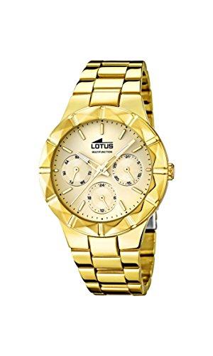 Lotus - 15920/2 - Montre Femme - Quartz - Analogique - Aiguilles Lumineuses - Bracelet Acier Inoxydable doré