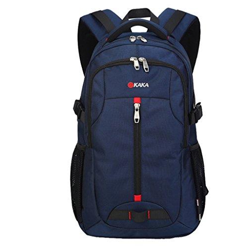 Super Moderno Oxford Outdoor Backpack Sport Backpack Camping Backpack Laptop Bag Blu - Blu