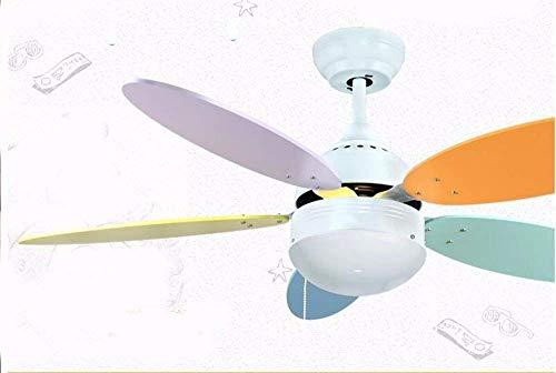 JFFFFWI European Style Creative Deckenventilator Kinder-LED-Leuchten, Lichtdecken und Schlafzimmer Dim Wall Control Lichter und Laternen Durchmesser 106 cm Höhe 38 cm Bad Ventilator mit Licht (Bad-leuchte Mit Ventilator)