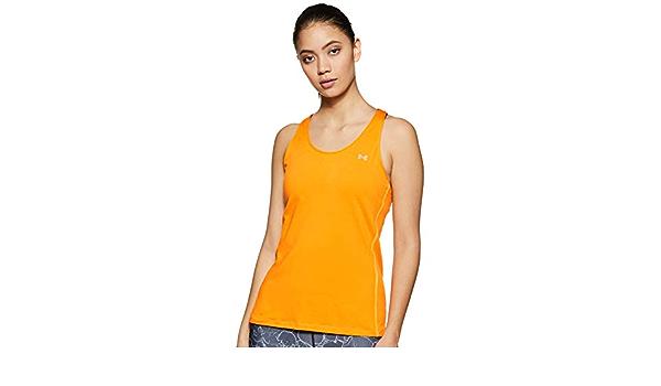 bequemes Sportshirt mit enganliegender Passform Ua HeatGear Under Armour Damen Racer atmungsaktives Sportoberteil f/ür Frauen