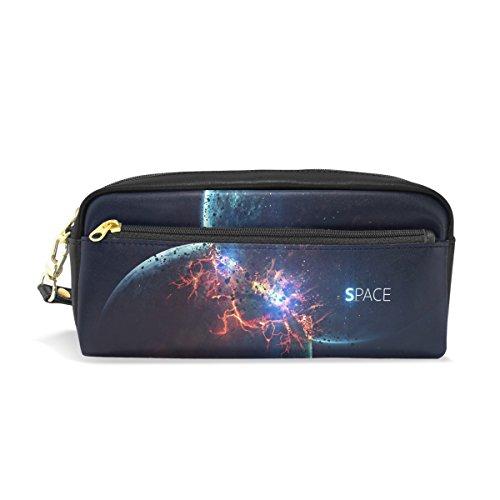 mydaily Planet Explosion Bleistift Fall Universe Space Pen Tasche Münzfach Kosmetik Make-up-Tasche 7.87 x 3.35 x 2.16 inches Glare Collision+Space words