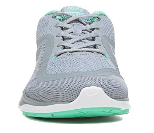 Nike Wmns Flex Trainer 6 - Baskets Donna Wolf Gris / Platine / Vert Glow