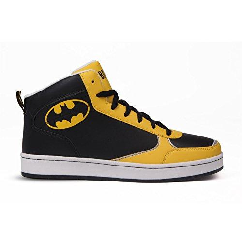 DC Comics Batman Herren Turnschuhe High Top Sneaker Freizeit Ankle (Batman Schuhe Für Männer)