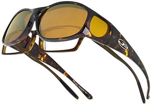 dd88eba856 Jonathan Paul fitovers Mediano Elemento Amarillo polarizadas Carey Gafas de  Sol