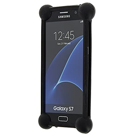 Samsung Galaxy Xcover 3 Value Edition coque bumper antichoc en silicone noir de qualité by PH26®