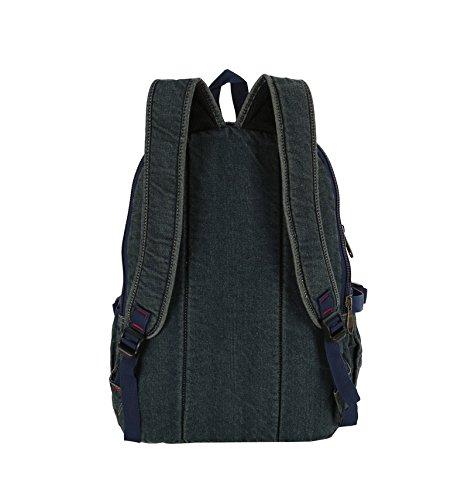 SZH Laptop Backpack durevole robusta tela di escursionismo Viaggi Zaino Arrampicata Campeggio Alpinismo zaino in spalla , blue Blue