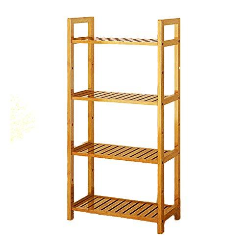 DULPLAY 3-5 Tier Holz Bücherschrank,Multifunktionale Regal bücherregal Verdickt Bodenstehende Storage Organizer Display lagerung möbel-E 50x25x100cm(20x10x39inch) -