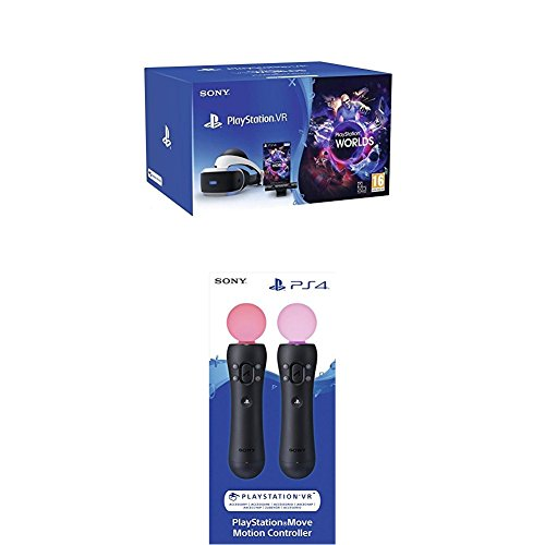 PlayStation VR MK3 + Caméra v2 + VR Worlds (digital) + Paire de Playstation Move 4.0 pour PS4