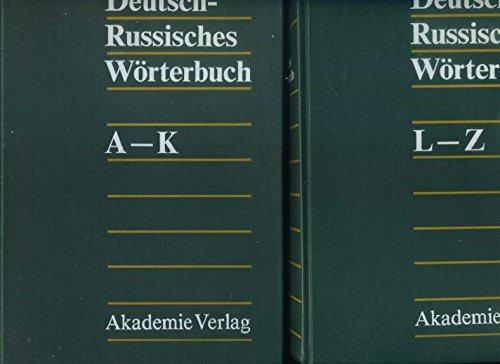 Deutsch - Russisches Wörterbuch. 2 Bände, A-K + L-Z