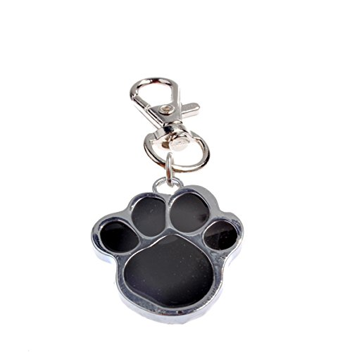 Rrimin Stainless Steel Footprint Shape Pendant For Dog Pet Collars Charm Pet Necklace Color Random