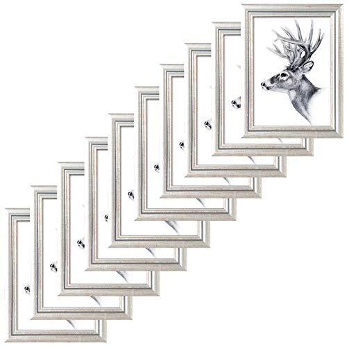 rrahmen 10x15cm Artos Stil Holz Rahmen Fotogalerie Glasscheibe Silber ()