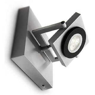 Philips Ledino 579008716 Wandspot/grau / Aluminium / 1 x 7,5 W / 3100K warm-weiss/dimmbar / Ein-/Ausschalter