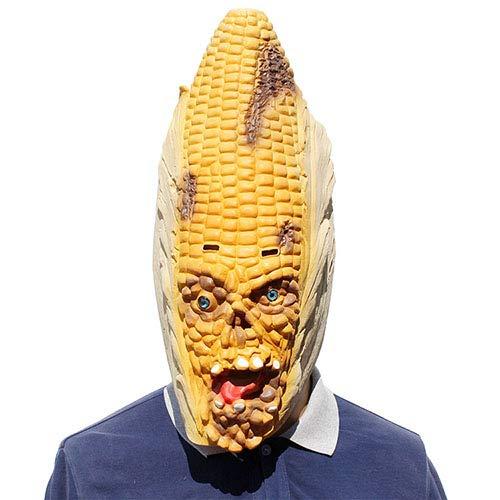 (QETU Halloween Mais Latex Maske, Neuheit Maskerade Party Volle Kopf Maske)