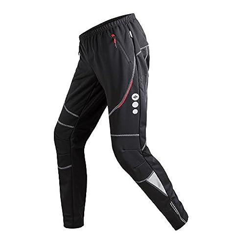 Santic Pantalons cyclistes pour hommes Pantalons étanches à la vapeur à la vapeur James Black