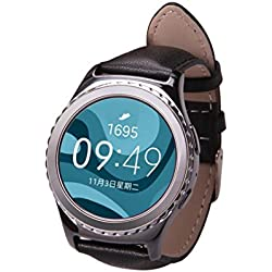 Fulltime(TM) Genuine Leather Watch Band Strap For Samsung Galaxy Gear S2 Classic R732