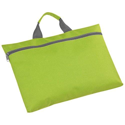 Kongresstasche - Konferenztasche - 41 x 27 x 0,8 cm (schwarz) apfelgrün