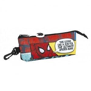 Safta Estuche grande Spiderman «Graphic Art» Oficial Triangular Ovalado 200x50x85mm