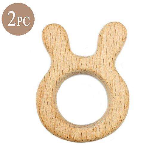 Best for baby Beech Bébé Dentition en bois Allaitement Jouet Animal en bois Pendentif Jouets pour bébé