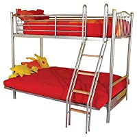 Halkyn Futon Triple Sleeper Bunk Bed Colour: Natural Cream