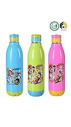 Aarushi Food Grade Plastic Water Bottle 600 ml Pack of 3 (Multicolour)