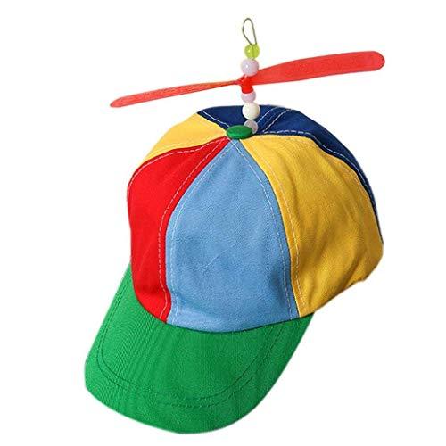 Ice.mask Farbige Propeller-Baseballmützen für Erwachsene im Freien Duck Tongue Visor Bambusfloß (Beanie Mit Propeller)