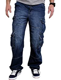 JET LAG 007 -Pantalones tipo cargo de Hombre, Varios Colores (28–44) Incluye llavero en cinta de camuflaje de Fabfive