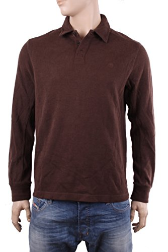 Timberland Pullover Uomo CANOE RIVER POLO (Medium, Marrone)