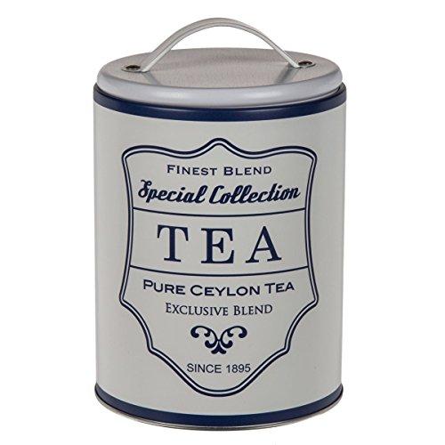 Metalldose Vintage Kaffee, Tee oder Zucker zur Auswahl, Modell:Tea